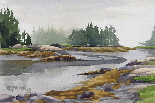 Islands at Low Tide, Deer Isle, 2015
