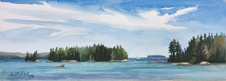 Freese Islands from Deer Isle, 2015 •