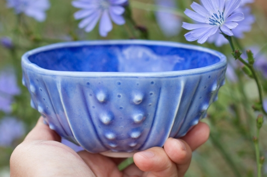 Urchin Rice Bowl - Deep Blue, Urchin Bowls -  artwork by Emily Miller