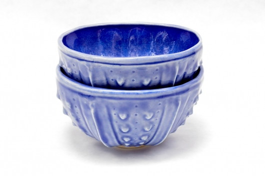Urchin Rice Bowl - Deep Blue, $50