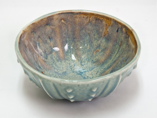 Urchin Rice Bowl - Winter 2, Urchin Bowls -  artwork by Emily Miller