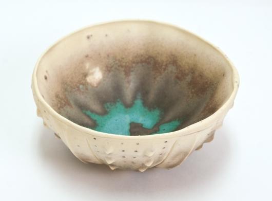 Urchin Rice Bowl - thin Copper Patina, 2015