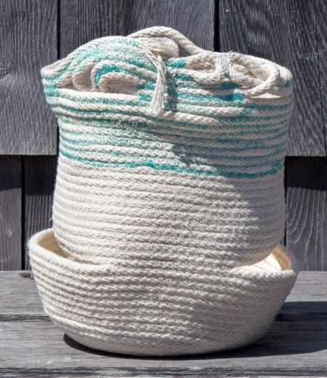 Teal Rim Basket, 2015