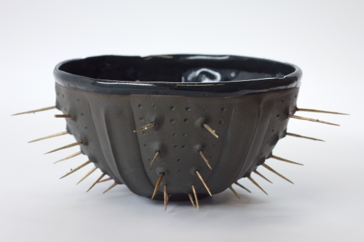 Black Spike urchin bowl, Urchin Bowls -  artwork by Emily Miller