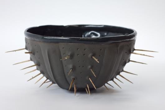 Black Spike urchin bowl, 2015