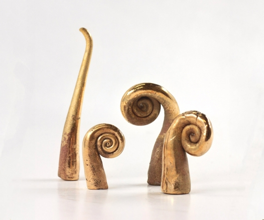 Koru, sculpture -  artwork by Emily Miller