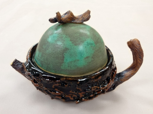 Nest Teapot, Ceramics -  artwork by Emily Miller