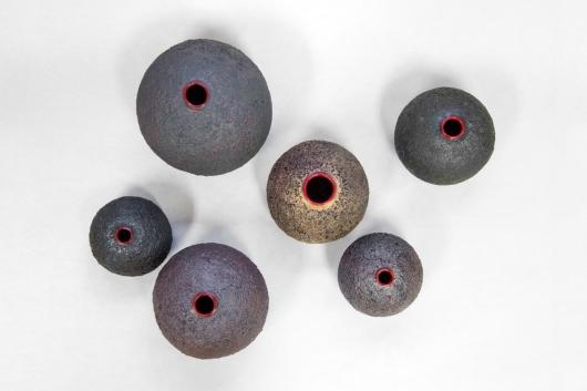 Lava Pots, Ceramics -  artwork by Emily Miller