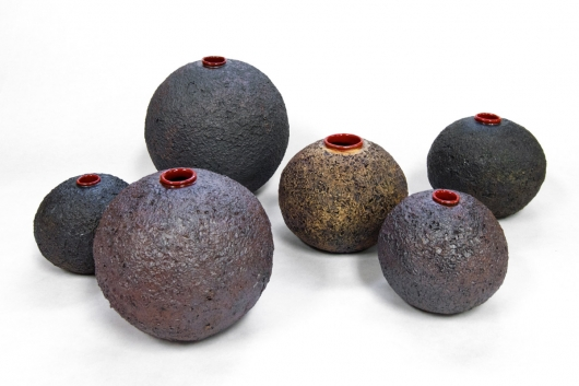 Lava Pots, Ceramics -  artwork by Emily Miller