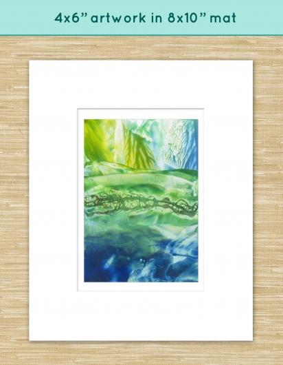 kelp shallows, ocean -  artwork by Emily Miller