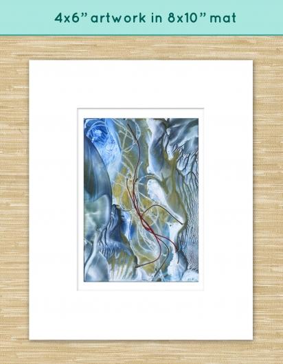 winter stream ii, winter -  artwork by Emily Miller