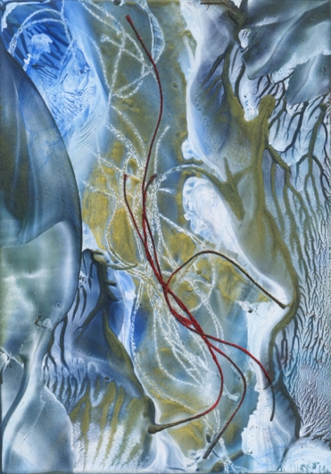 winter stream ii, winter -  artwork by Emily Miller