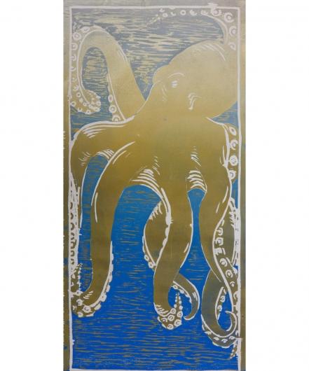 he'e - blue / gold, 2014