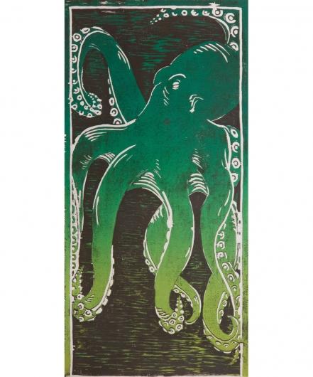 he'e - green / black, 2014