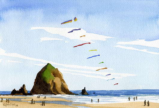 Kites at Cannon Beach, 2016