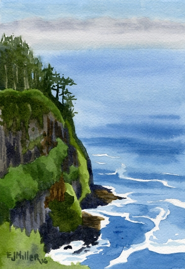 Cape Meares sea cliff