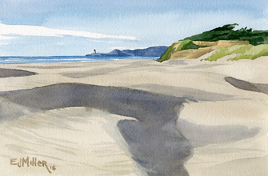 Yaquina Bay Dunes, Oregon Coast - beach, oregon coast artwork by Emily Miller