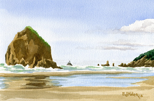 Haystack Rock and Tillamook Rock Lighthouse, $250