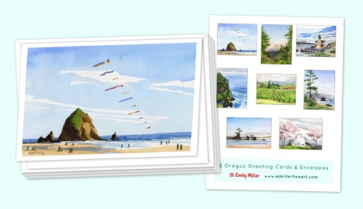 Greeting card set - Oregon, 2016