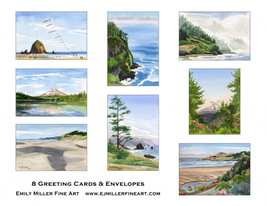 Greeting card set - Oregon