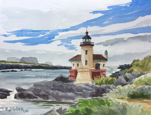 Coquille River Lighthouse, Bandon, 2016