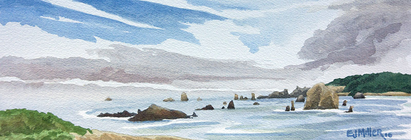 North from Cape Blanco, Oregon Coast - oregon coast artwork by Emily Miller