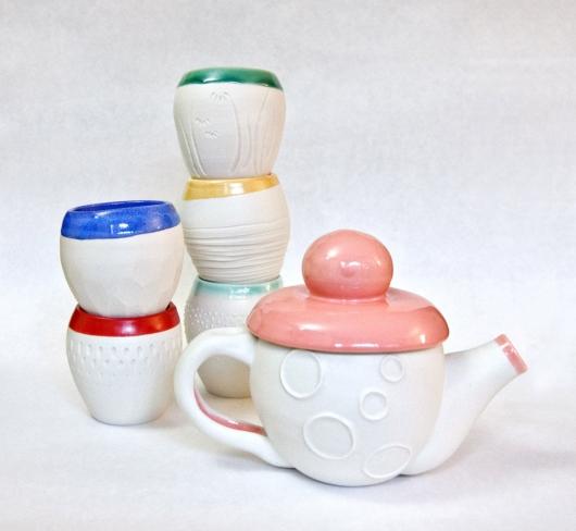 Wanderers Tea Set, Ceramics -  artwork by Emily Miller