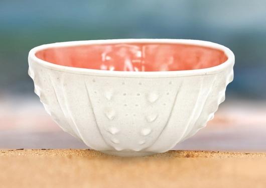 Urchin Rice Bowl - Shell Pink, Urchin Bowls -  artwork by Emily Miller