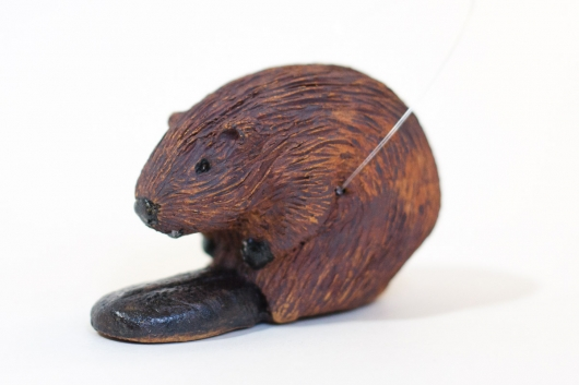 Beaver Family (Mini / Ornament - sitting down), $60  3  available