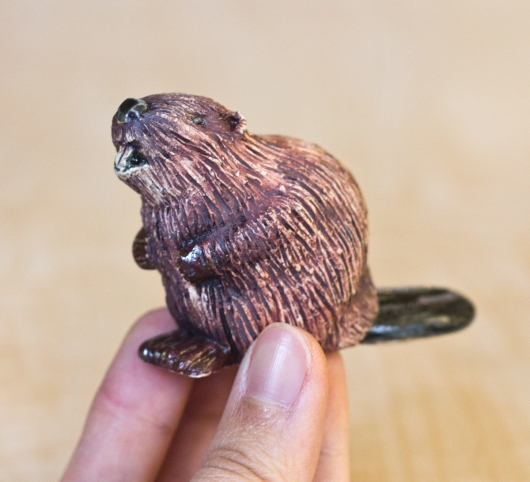 Beaver Family (Mini / Ornament - sitting up), $60  2  available