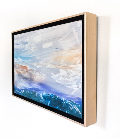 Winter Sky I, cascadia winter - abstract art, contemporary art, painting, landscape artwork by Emily Miller