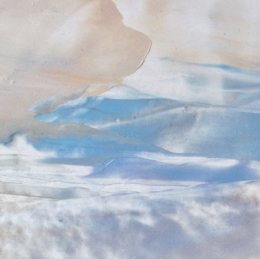Detail Winter Sky II, cascadia winter - abstract art, contemporary art, painting, landscape artwork by Emily Miller