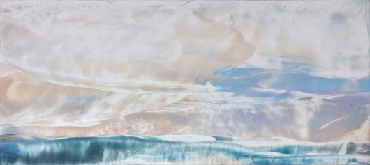 Winter Sky II, cascadia winter - abstract art, contemporary art, painting, landscape artwork by Emily Miller