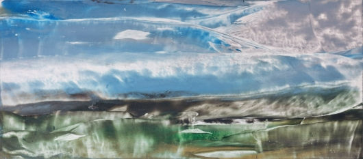 Wetlands, Afternoon, cascadia winter - abstract art, contemporary art, painting, landscape artwork by Emily Miller