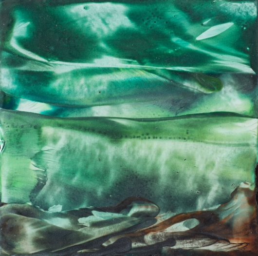 Still Waters, cascadia winter - abstract art, contemporary art, painting, green artwork by Emily Miller