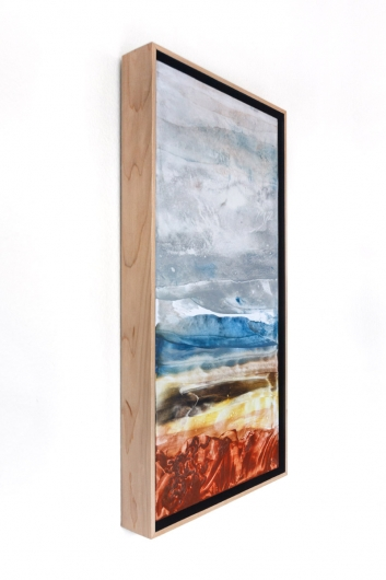 Promise of Rain II, cascadia winter - abstract art, contemporary art, painting, landscape artwork by Emily Miller