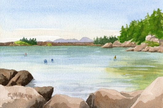 Stonington Sand Beach II, Down East Maine -  artwork by Emily Miller