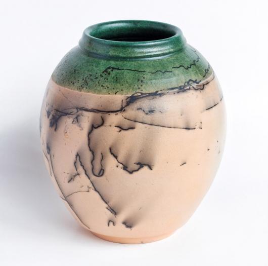 Horsehair Raku urn, 2017