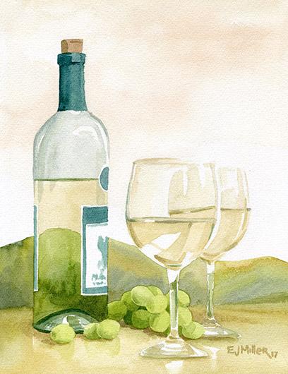 White Wine and Hills, 2017