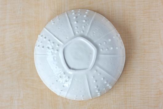 Urchin Serving Bowl - White, Urchin Bowls -  artwork by Emily Miller