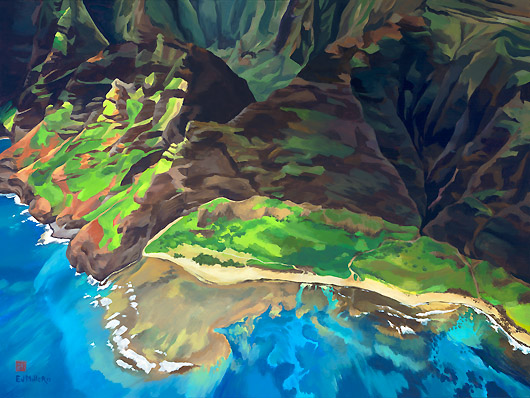 Kauai Artwork by Hawaii Artist Emily Miller - Nualolo Kai