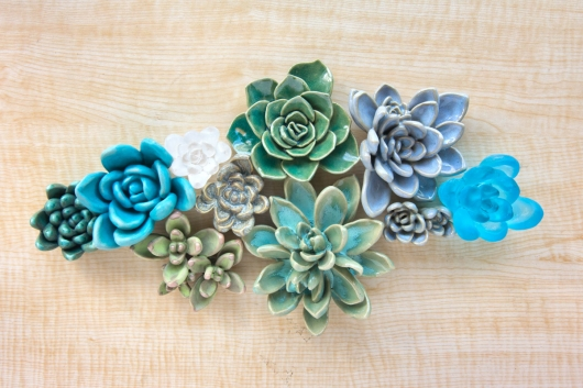 Succulents, sculpture -  artwork by Emily Miller
