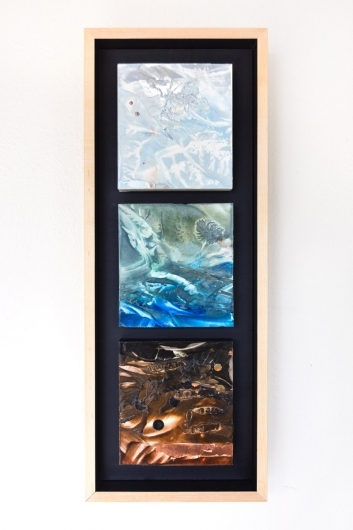 River's Edge, Winter (triptych), $550