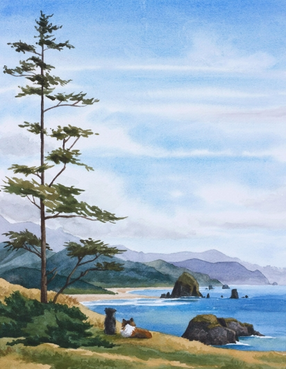 Ecola Point Vista commission, 2017 •