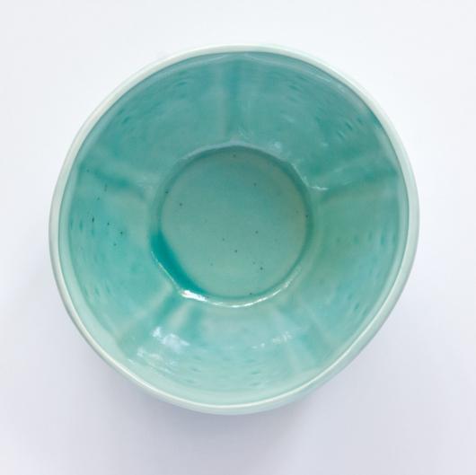 Urchin Soup Bowl - Aqua, Urchin Bowls -  artwork by Emily Miller
