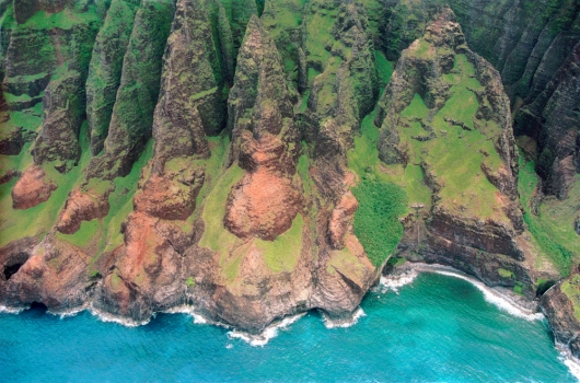 Na Pali, Aerial,  -  artwork by Emily Miller