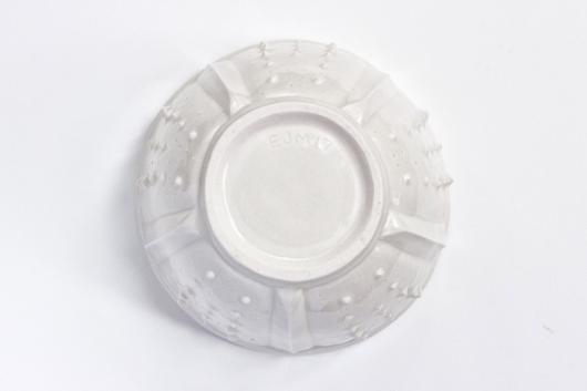 Urchin Soup Bowl - White, Urchin Bowls -  artwork by Emily Miller