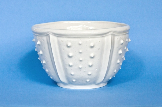 Urchin Soup Bowl - White, Urchin Bowls -  artwork by Emily Miller
