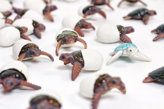 Hatching Turtle, Menagerie -  artwork by Emily Miller