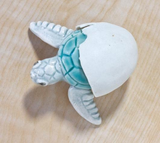 Hatching Turtle (White Hatching), $80